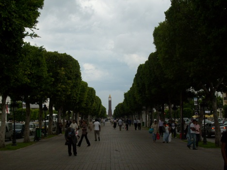 Bourguiba Avenue in Tunis, Tunisia